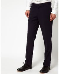 SELECTED | Blue Selected Ramon Slim Trousers for Men | Lyst