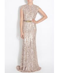 Elie Saab - Pink Fully Sequin Gown - Lyst
