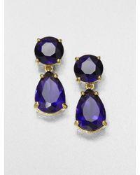 Kate Spade | Blue Faceted Drop Earrings | Lyst