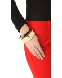 Noir Jewelry - Metallic Geometric Bangles Set - Lyst