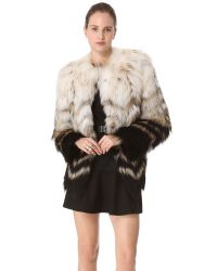 Theory | White Cassius Tersk Fur Jacket | Lyst