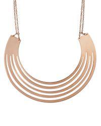 ASOS   Metallic Rose Gold Torque Necklace   Lyst
