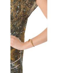 Aurelie Bidermann - Metallic Wheat Spikes Bangle - Lyst