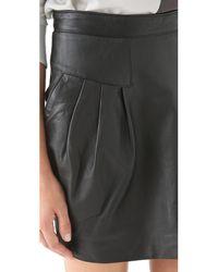 Sandra Weil - Black Celia Leather Skirt - Lyst