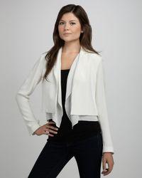 Textile Elizabeth and James | White Parker Layered Blazer | Lyst