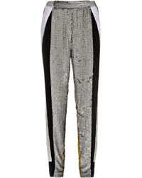 3.1 Phillip Lim | Metallic Sequined Silk Track Pants | Lyst