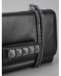Valentino | Black Studded Clutch | Lyst