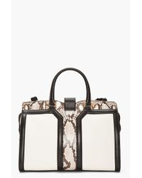 Saint Laurent | White Ivory Python Leather Chyc Bag | Lyst