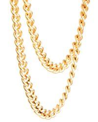 ASOS - Metallic Asos Over The Button Tie Chain for Men - Lyst