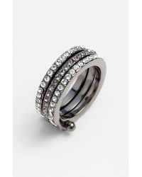 Givenchy | Metallic Crawford Stack Ring | Lyst