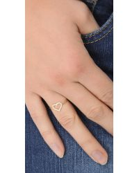 Jennifer Meyer | Metallic Diamond Open Heart Ring | Lyst