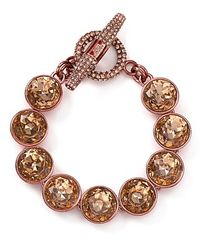 Juicy Couture - Pink Glam Rocks Stone Toggle Bracelet - Lyst