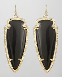 Kendra Scott | Black Skylar Arrow Earrings   | Lyst