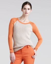 Reed Krakoff - Orange Womens Thermal Baseball Sweater - Lyst