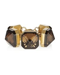 Gucci | Metallic Gold-Plated Crystal Bracelet | Lyst
