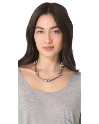 Tory Burch - Metallic Interlock Circle Necklace - Lyst