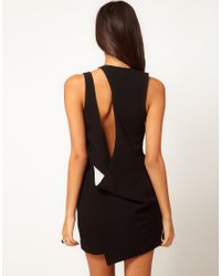 ASOS Black Mini Dress with Cut Out Strap Detail