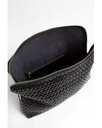 3.1 Phillip Lim | Black Minute Quilted Bubble Clutch Bag | Lyst