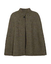A.P.C. | Brown Hand-Woven Houndstooth Wool Cape | Lyst