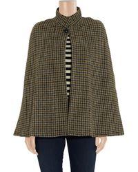A.P.C. - Brown Hand-Woven Houndstooth Wool Cape - Lyst