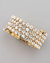 Cara | Metallic Crystal Spiral Bracelet White | Lyst