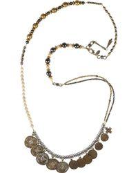 Erickson Beamon - Black Tribute 22karat Goldplated Coin Necklace - Lyst
