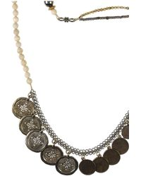 Erickson Beamon - Black Tribute 22karat Goldplated Coin Necklace - Lyst