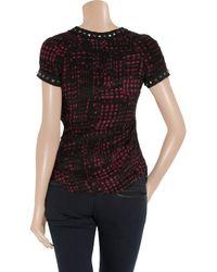 Étoile Isabel Marant - Black Djodie Printed Silk Top - Lyst