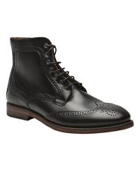 H by Hudson - Black Wing Tip Boot for Men - Lyst