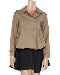 Juicy Couture | Brown Stretch-cotton Gabardine Jacket | Lyst