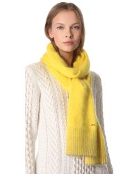 Juicy Couture - Yellow Angora Scarf - Lyst