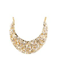 kate spade new york - Metallic Kaleidoball Encrusted Statement Necklace - Lyst