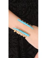 Kelly Wearstler | Metallic Banded Horn Cuff in Turquoise | Lyst