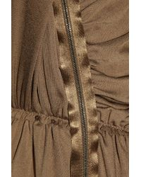Lanvin - Brown Jersey Jumpsuit - Lyst