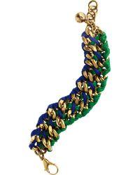 Lulu Frost | Green Thread Woven Chain Bracelet | Lyst