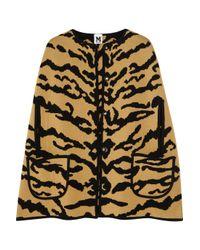 M Missoni | Yellow Tiger-print Merino Wool Cape | Lyst