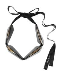 Marni - Black Resin Horn and Quartz Necklace - Lyst