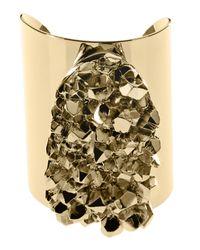 Michael Kors - Metallic Nugget Cuff Bracelet Golden - Lyst