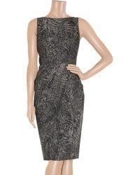 Michael Kors | Gray Woolblend Brocade Dress | Lyst