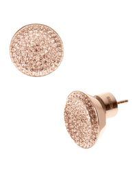 Michael Kors - Pink Pave Stud Earrings  - Lyst