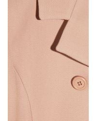 Miu Miu - Pink Double-breasted Cotton-gabardine Coat - Lyst