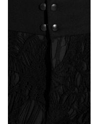 Rag & Bone | Black Alison Lace and Stretchjersey Skinny Pants | Lyst