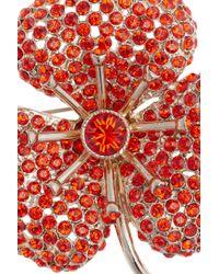 Sonia Rykiel - Orange Crystalembellished Flower Brooch - Lyst