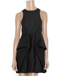 Tibi - Black Jacquard Ruffled Dress - Lyst