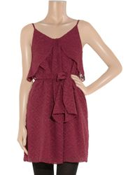 Vanessa Bruno Athé | Embroidered Silk and Cotton-blend Dress | Lyst