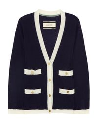 By Malene Birger - Blue Tricca Contrast Trimmed Wool Cardigan - Lyst