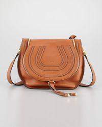 Chloé - Brown Marcie Medium Leather Crossbody Bag - Lyst