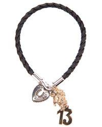 Dolce & Gabbana - Black Braided Leather Bracelet for Men - Lyst