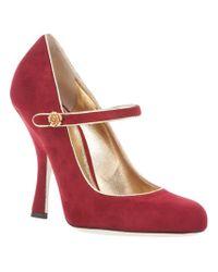 Dolce & Gabbana | Red Midheel Buckle Pump | Lyst