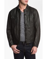 Edun | Gray Classic Leather Moto Jacket for Men | Lyst